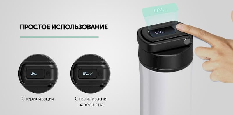 Термобутылка Gelius Pro Smart UV Health Mojo Bottle GP-UV002